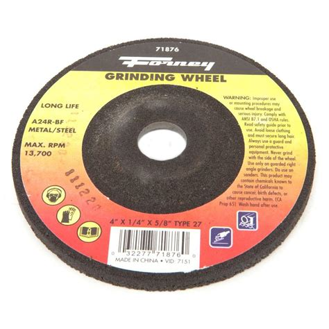 Cutting Wheel 16 Nippon Resibon forney 4 in x 1 16 in x 5 8 in masonry type 1 cut wheel 71851 the home depot