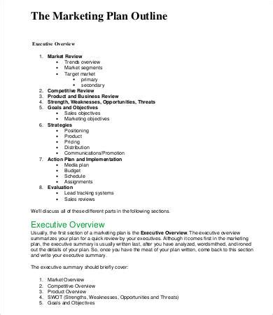 Marketing Plan Outline 6 Free Word Pdf Documents Download Free Premium Templates Marketing Research Outline Template