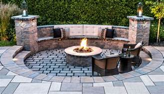 Outdoor Patio Firepit Pits Pit Design Installation Service Backyard Firepit Ideas Rochester Ny Acorn