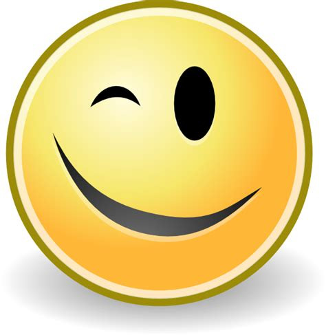 Winking Face Clipart Free Download Best Winking Face | wink face clipart best