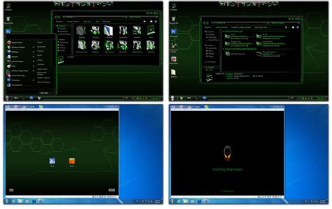 download themes for windows 7 free alienware green alienware skin pack for windows 7 themes for