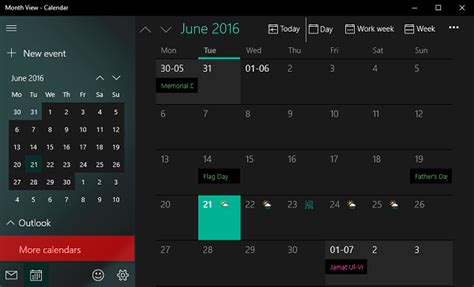 how to add national holidays to calendar app in windows 10