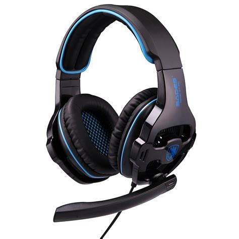 Sades Sa 608 Earphone Headset Gaming With Mic sades sa 810 3 5mm gaming headset wired headphone with
