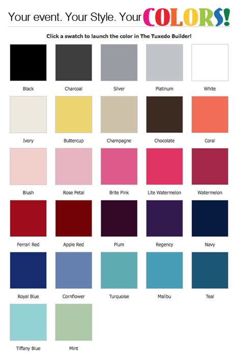 color expressions lesueur s tuxedos home page