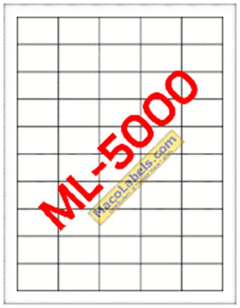 Maco Ml 5000 Ml 5000 Ml5000 Laser Inkjet Upc Label White 100 Sheets 50 Up Maco Label Template