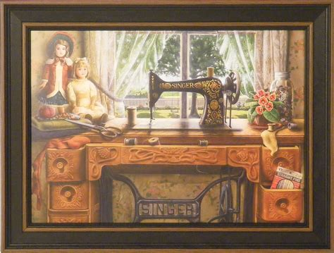 Hiasan Dinding Wall Sign Sewing Room the sewing room by doug knutson 12x16 framed print antique singer machine ebay