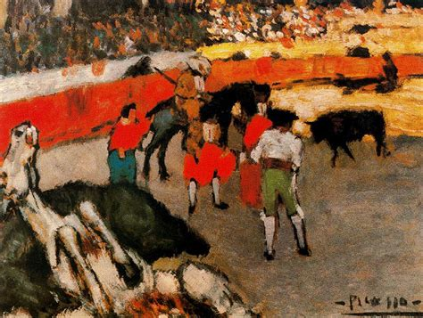 picasso paintings bullfight bullfight pablo picasso wikiart org