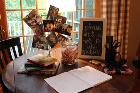 graduation party idea chalkboard photos entertaining