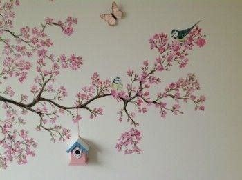 muurtekeningen woonkamer muurschildering babykamer werkspot