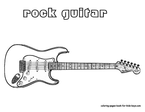 Electric Guitar Coloring Page grand guitar coloring guitars free electric guitar