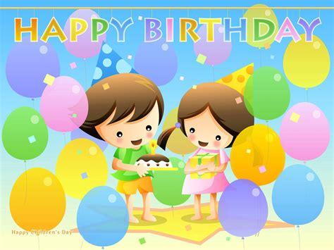 birthday wallpaper with cartoon cartoon child celebrate birthday party hd wallpapers