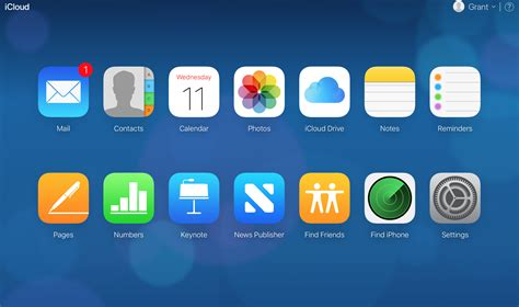 request icloudcom  updating icons  interface