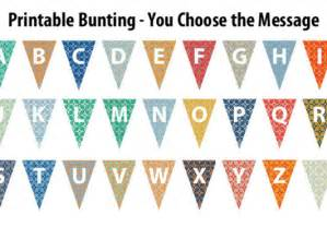 create a downloadable printable bunting banner with any