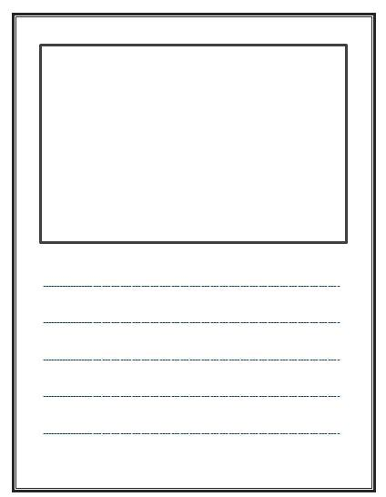 free printable lined paper with picture box write and draw lined paper with space for story
