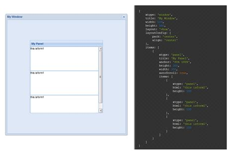extjs layout align extjs autoscroll does not work with vbox layout stack