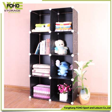diy pp plastic magic bookcase 8 cubes corner bookshelves