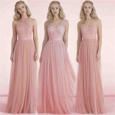 blush and chagne bridesmaid dresses wedding and