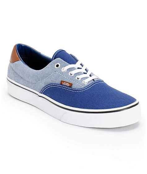 vans california blue canvas vans era 59 blue canvas chambray shoes at zumiez pdp