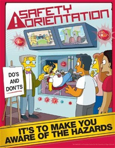The Meme Machine Pdf - simpsons safety training poster safety orientation in