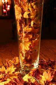 But check out this simple concept vase fall leaves candles tada
