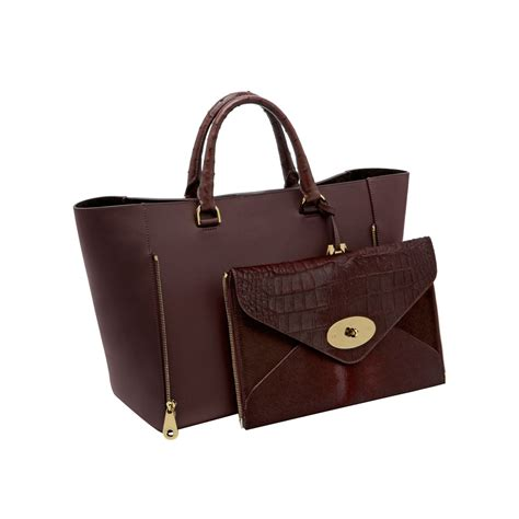 Bag Hm Luxury Ostrich 84123 mulberry willow tote in lyst