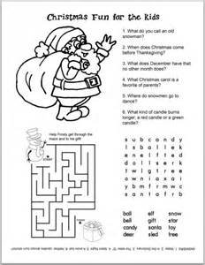 Free christmas kids activity sheets and coloring sheets catch my