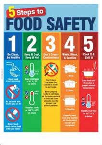 Food safety poster 5 steps to food safety safety poster shop