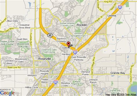 roseville california map map of homewood suites by sacramento roseville ca