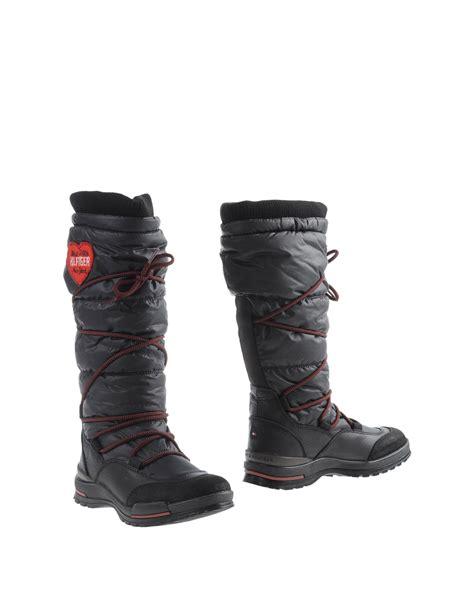 hilfiger boots lyst hilfiger boots in black