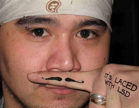 tattoo finger moustache 2593301757 c3da725fef jpg