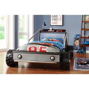 Kids bed kiran toddler s silver race car twin size bed