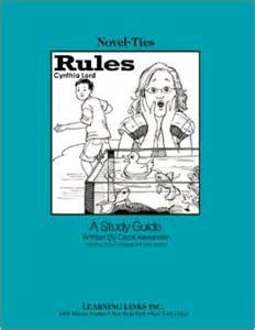 Rules novel ties study guide cynthia lord 9780767544689 amazon com