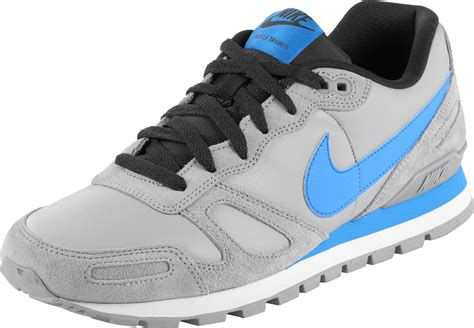 nike air shoes nike air waffle trainer leather shoes grey blue