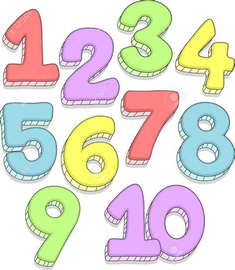 numbers clipart pictures of number 1 10 activity shelter