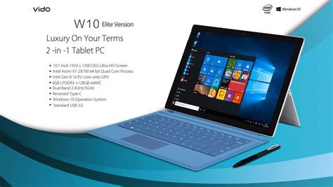 Vido W10i Ultrabook Tablet Pc microsoft surface clone dan berbagai tablet hybrid