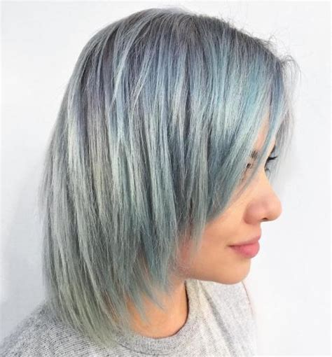 blue gray burr cut hair 37 cute medium haircuts to fuel your imagination