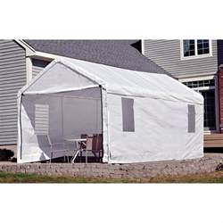 Portable Carport Covers shelterlogic portable garage canopy carport 10 x 20