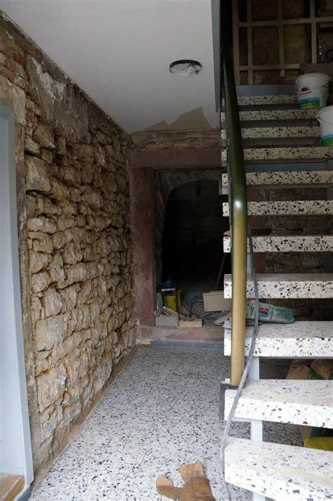bauernhaus underfloor construction   stone walls