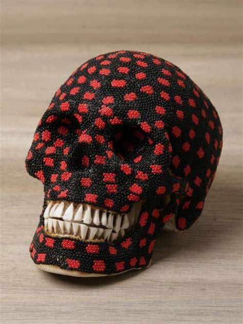 mexican beaded skulls beautiful macabre beaded human skulls by mexican huichol
