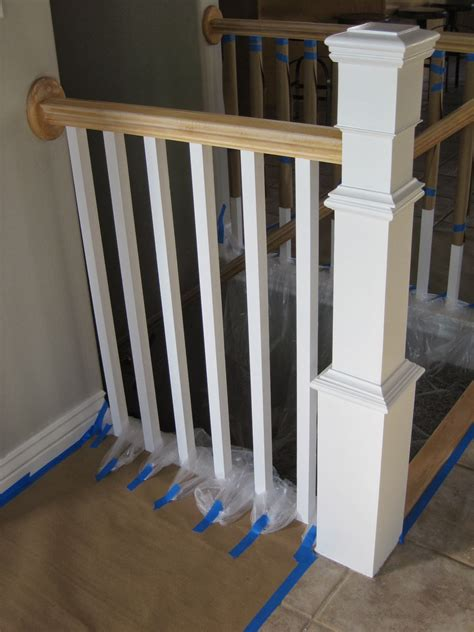 Staining Stair Banister by Remodelaholic Stair Banister Renovation Using Existing