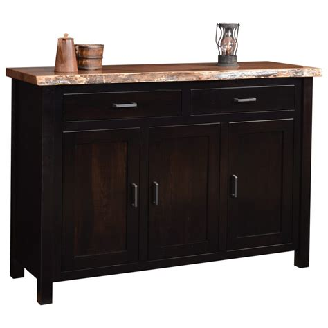 buffet collection adele collection buffet with live edge top amish crafted furniture