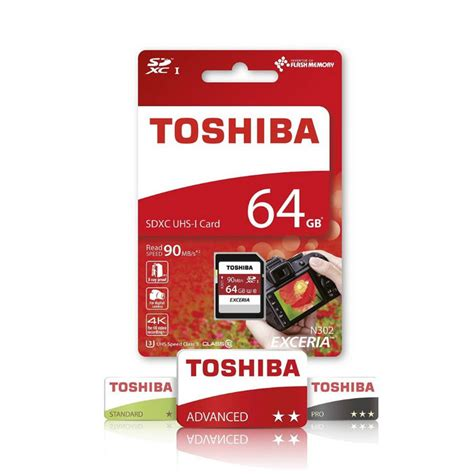 Toshiba Exceria Microsdhcxc Uhs I Class 10 U3 90mbs 128gb toshiba exceria 64gb sdhc 90mb s uhs i u3 class 10 4k thn