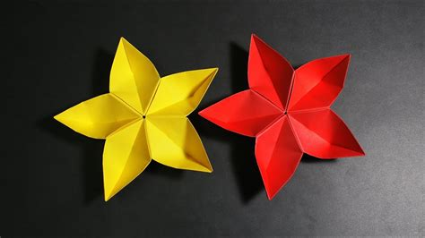 diy paper flower how to make 5 petal origami flower at