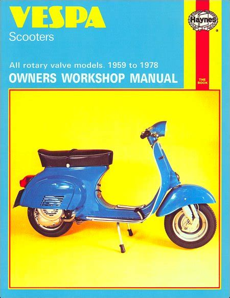 sell 1959 1978 vespa 90 rotary valve scooter repair manual