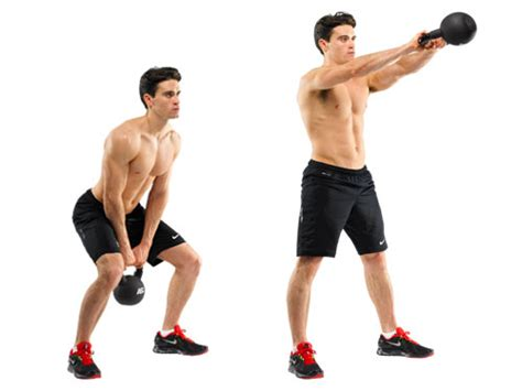 kettlebell swing workout 10 solid dumbbell and kettlebell exercises for ripped arms