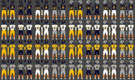 wvu colors file wvu football uniforms png
