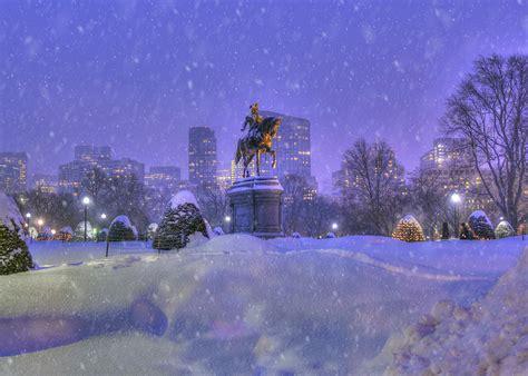 Joanns Winter Garden by Winter Snow In Boston Garden Photograph By Joann Vitali