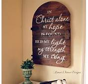 In Christ Alone Sign Made From Old Barn Door Signs Craft Quote My