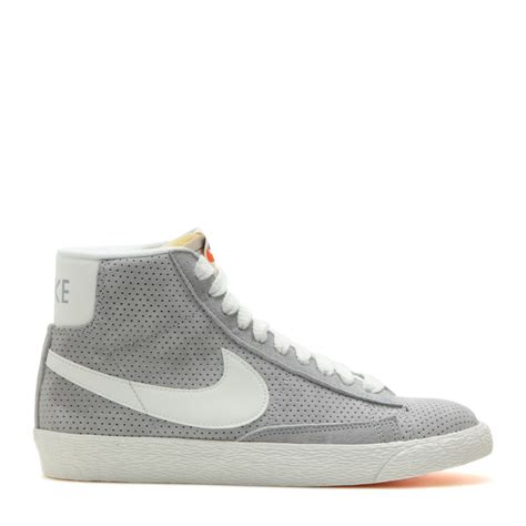nike mid top shoes nike blazer suede mid top sneakers in gray lyst