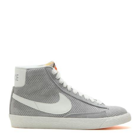 mid top sneakers womens nike blazer suede mid top sneakers in gray lyst